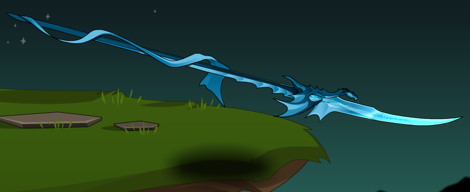 Dragonsworn Champion Spear Aqw