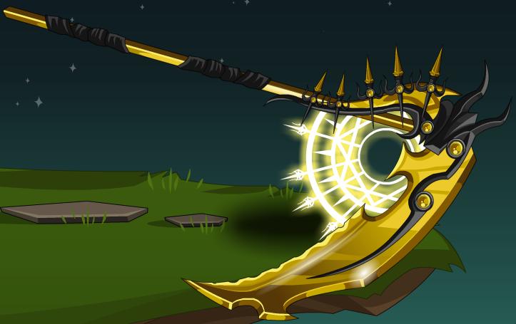 guilded scythe
