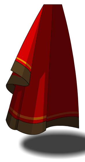 Red and Gold Centurion Cape - AQW