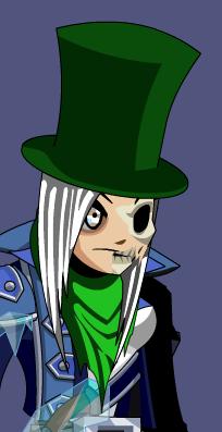 Zombie Top Hat Girl Skull Aqw